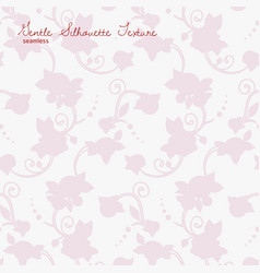 Rose flowers silhouette seamless texture vector