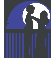 silhouette children vector image vector image