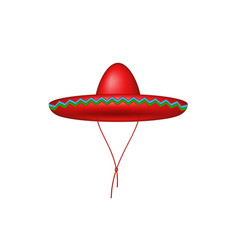 Sombrero hat in red design vector