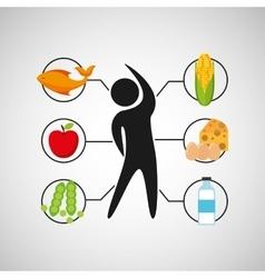 Sport man nutrition health vector