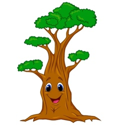 Tree cartoon character vector image vector image