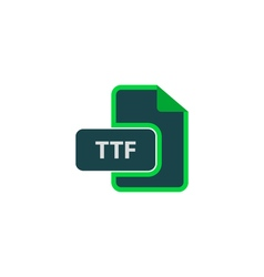 Ttf icon vector