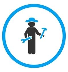 User serviceman circled icon vector