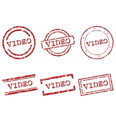 Video stamps vector image