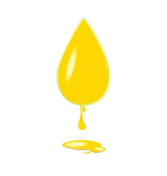 Yellow drop color vector