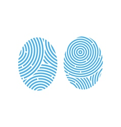 Fingerprint icon set vector
