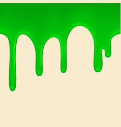 Seamless green paint colorful dripping vector