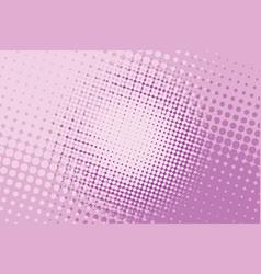 Pink halftone pop art background vector