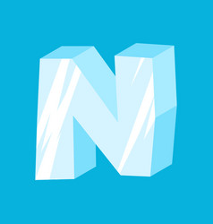 Letter n ice font icicles alphabet freeze vector