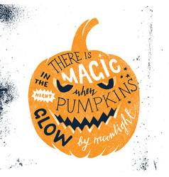 Halloween letering in pumpkin silhouette vector