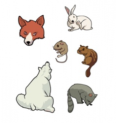 Zoo mammals vector