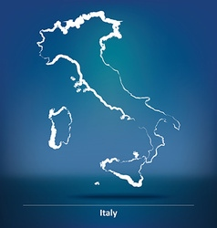 Doodle map of italy vector