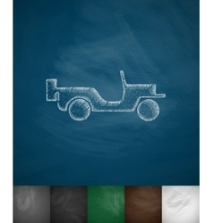 Military vehicle icon vector
