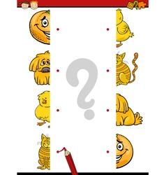 cartoon educational halves game vector image