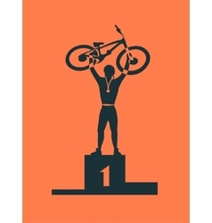 Winner bicycle racer vector