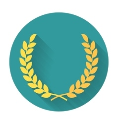 Laurel wreath flat icon vector