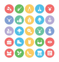 Clothes icons 7 vector