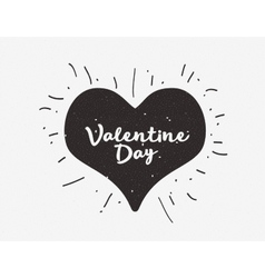 Heart with hand drawn typography poster vector