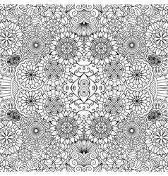 Symmetrical floral seamless background vector