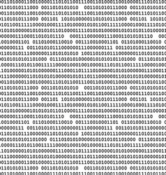 Binary computer code raster background black vector