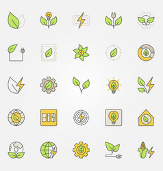 bioenergy colorful icons vector image