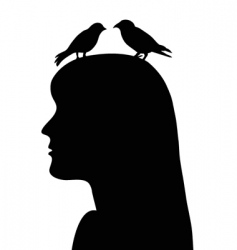 birds in the head vector image vector image