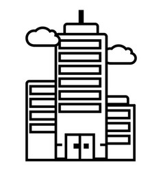 business skyscrapper line icon sign vector image