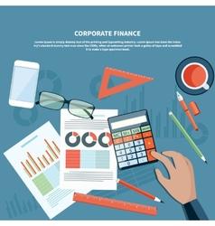 Corporate finance business management concept vector