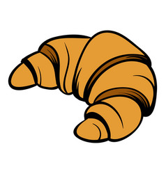 croissant icon cartoon vector image