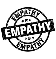 Empathy round grunge black stamp vector
