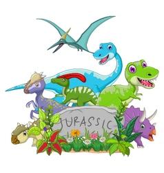 funny jurassic animal vector image