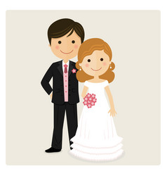 happy just married on their wedding day vector image vector image