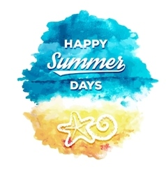 Happy Summer Days vector image vector image