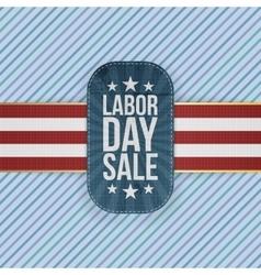 Labor day sale patriotic emblem vector
