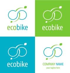 Logo eco bike vector image vector image