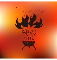 Logo for cafe barbecue oven grill for Home bar vector image vector image