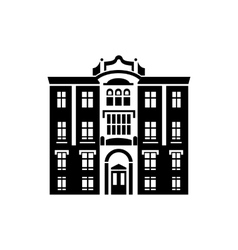 Majestic building icon simple style vector