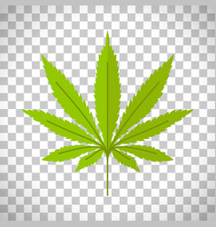 Marijuana leaf on transparent background vector