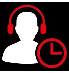 Operator Time Icon vector image