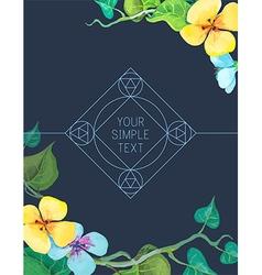 ornamental logo design vector image vector image