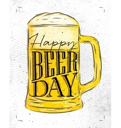 Poster beer day vector image vector image