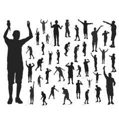 Rappers silhouette vector