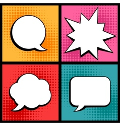 Set of speech bubbles in pop art style vector image vector image