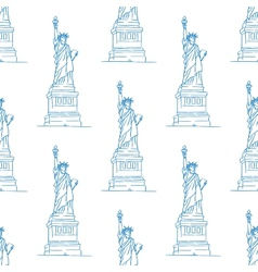 Statue of Liberty seamless pattern vector image