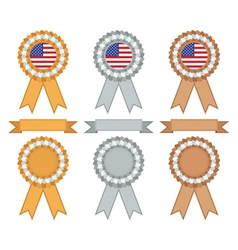 usa gold silver and bronze vector image vector image