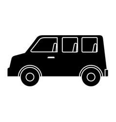 Van vehicle isolated icon vector
