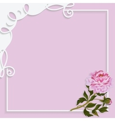 Vintage frame with paper swirls and beautiful vector