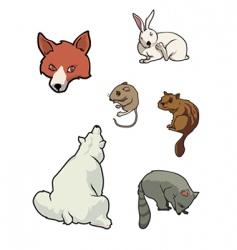 zoo mammals vector image vector image