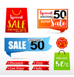 050 collection of web tag banner for promotion vector