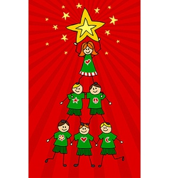 Kids christmas tree vector